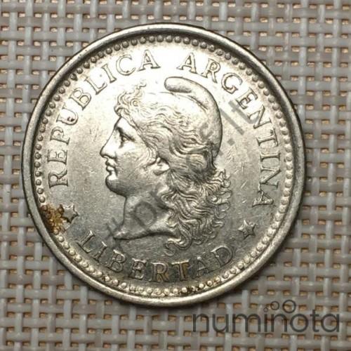 Belgian Congo 10 Centimes 1925 KM-18 VF