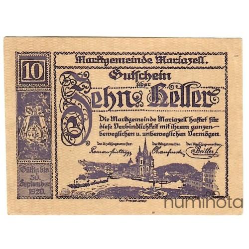 Austrian Notgeld 50 Heller 1920 JPR-JPR0957Ib-50 F